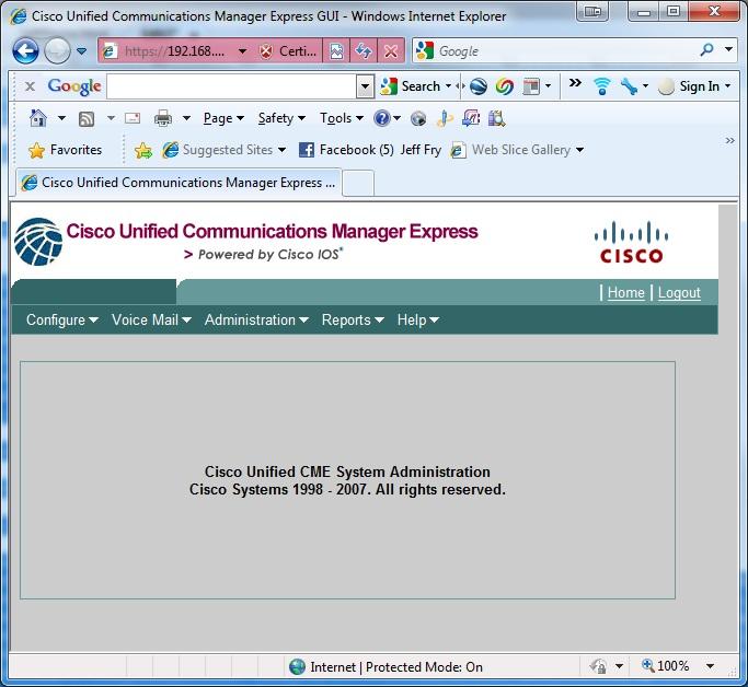 Cisco CallManager Express Setup for Home | FryGuy's Blog